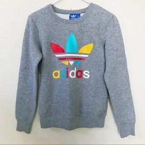 Adidas Multicolor Gray Sweatshirt